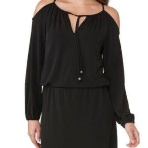 Michael Kors Georgette cold shoulder Dress